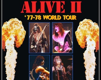 KISS ALIVE II Tour At The Chicago Stadium Jan 15th & 16th 1978 Stand-Up Display