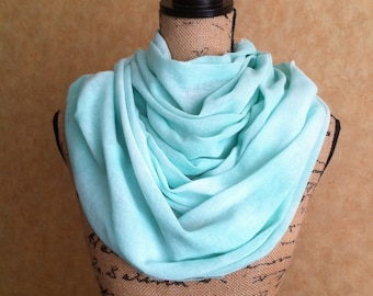 "Large cotton gauze scarf/wrap/sarong hand dyed ""Sea Glass"""