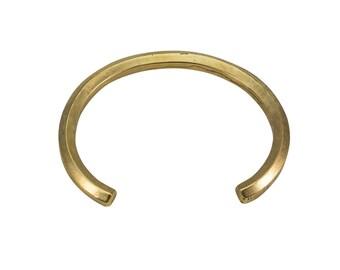 Thick Hexagon Cuff, Hex Bar Cuff, Men's Cuff, Silver Minimalist Cuff, Bronze Modern Cuff, Made in USA, Solid Silver Cuff