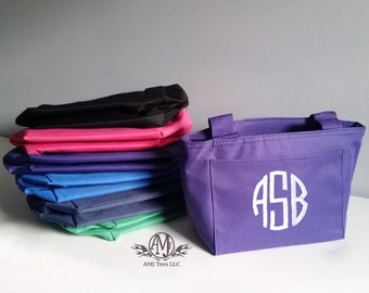 Monogram lunch bag, personalized insulated lunch bag, monogrammed gift