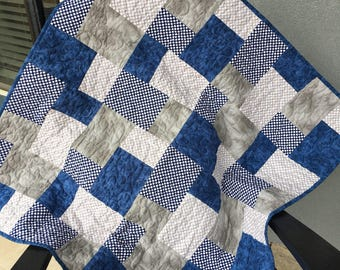 Blue/Gray Baby Quilt