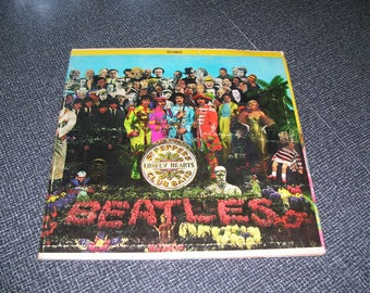Sgt Pepper's Lonely Hearts Club Band LP 1967 PLAYS WELL Vintage