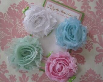 Girl hair clips - flower hair clips - girl barrettes - hair clip sets