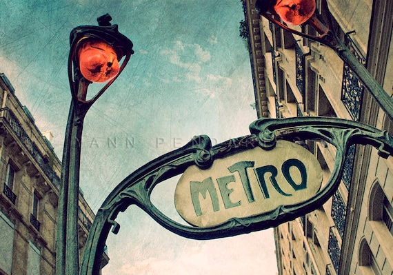 Paris France, Paris Photo, Photography Paris, Metro Sign, industrial design, Paris Metro decor, steampunk decor, steampunk art, steampunk