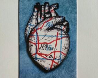 LA Heart Print (blue)