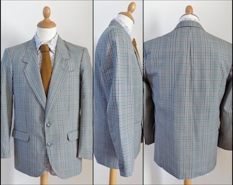 Mans plaid lightweight blazer sports jacket Burton check plaid jacket size 48eu medium