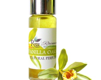 Vanilla & Oakmoss natural perfume oil made with pure essential oils and absolutes