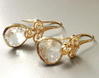 Gold dangle earrings, Dangle earrings Gold, gold earrings