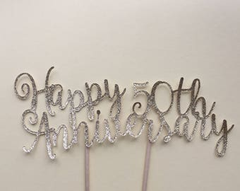 year/ Anniversary cake topper/ bouquet topper - Sweet William style