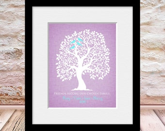 """Wedding Party Gift, Best Friends Print, Personalized Best Friends Gift, """"Friends Become Our Chosen Family""""  Bridesmaid Gift, Maid of Honor"""