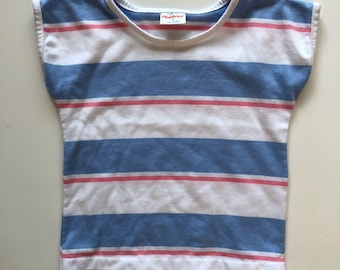Vintage Health-Tex Striped Boxy Fit Tee for Toddler Girl