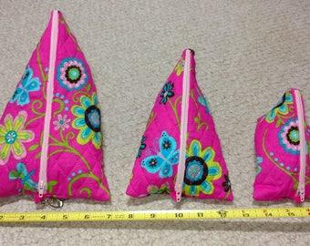 Nesting Cosmetic Bags Set of Three
