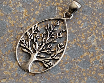 Tree of Life, Tree of Life Jewelry, Tree of Life Pendant, Tree of Life Necklace, Sterling Silver, Tree Pendant, Silver Pendant, (1) KP15-102