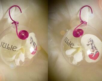 "Christmas ball ""ANGELO 1"" to customize, choice of color"