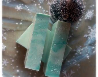 5pk Snowy Morning Christmas Soap, Winter Soap, gift soap, moisturizing soap, frozen soap