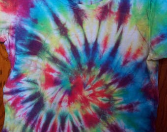 t-shirt sleeve short tie & dye spiral multicolor