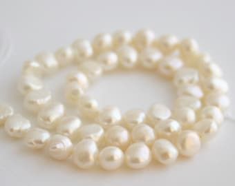 Natural Ivory Freshwater Pearls 5-7mm, 10 beads for Jewellery Making Supplies