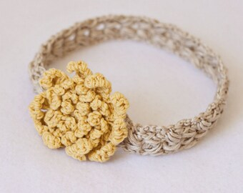 Crochet PATTERN - Sun Flower Headband (sizes - baby to adult)