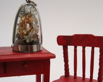 Custom Hummingbird Nest, Terrarium Locket Necklace, Natural World Miniature