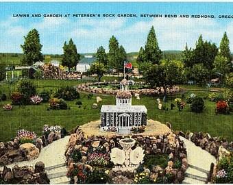 Vintage Oregon Postcard - Petersen's Rock Garden between Bend and Redmond (Unused)
