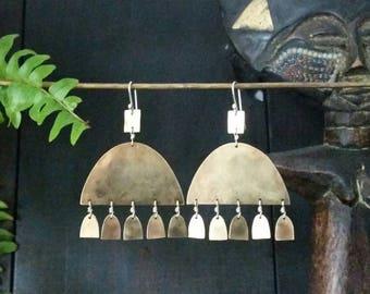 Ashanti Earrings. Bronze Chandelier Earrings