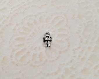 Robot floating charm for memory lockets