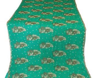 10% OFF Teal blue Used Sari, Dress Making, Fabric, Sarong, Drape, Embroidered Sari in Teal Blue