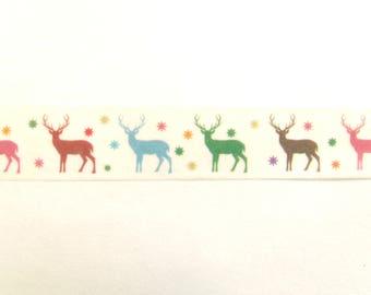 10 m Masking Tape Washi Tape tape multicolored reindeer