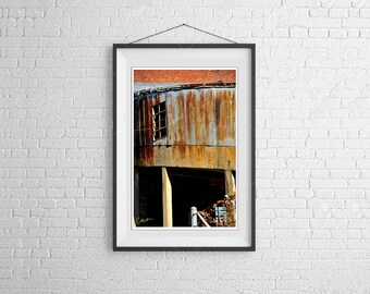 Photo of Abandoned Building, Architecture Print, Photography, Urban Art, Knoxville History, Art for Office Hotel, Historic Knoxville TN