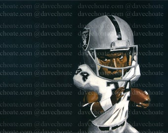 Bo Jackson, Los Angeles Raiders Art Photo Print
