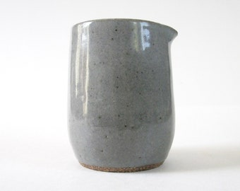 Small Gray Speckled Pottery Creamer