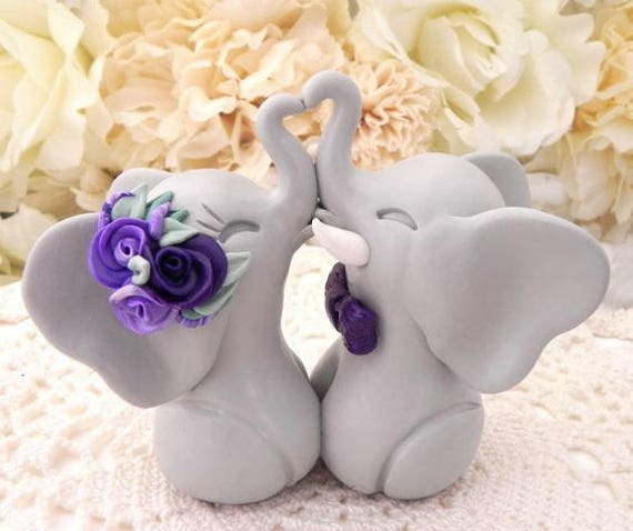 Wedding Cake Topper Wedding Decor Bridal Shower Gift Custom Cake Topper Wedding Gift Anniversary Gift Boho Wedding Beach Wedding Elephants