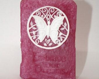 Embrace Your Dreams Butterfly Soap - gift soap, affirmation, graduation, new endeavor, party favor, guest soap, pretty soap, spa soap