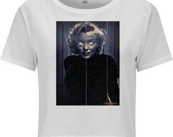 NEW! Zombie Marilyn Crop top rockabilly top psychobilly T-shirt pin up top Horror Marilyn Monroe Holloween Style top Alternative t -shirt