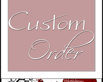 Personalization for Winterberry Jewelry handmade fine silver charms (upgrade)