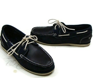 Vintage Timberland Boat Shoes Vintage Timberland Shoes Timberland Shoes For Women Timberland Casual Shoes Ladies Navy Blue Loafers