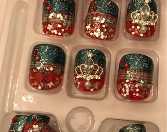 Winter Princess nails