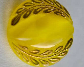Small Yellow Moonglow with Gold Luster