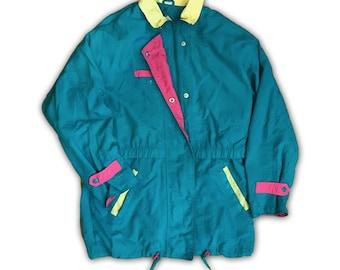 Vintage 90s - Teal Parka Jacket - Medium