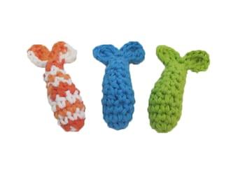 Catnip Shrimp Cat Toy - Set of 3