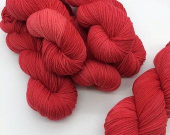 Scarlet Harlot // Castaway DK 100gm// Hand dyed Yarn