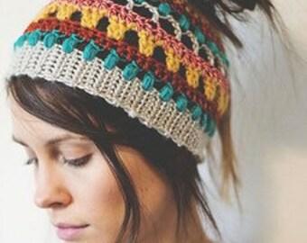 Ponytail Beanie - Handmade - crocheted