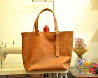 Leather tote bag Laptop leather bag Zipper Leather bag Brown leather bag woman bag Tote bag Casual bag Shoulder bag