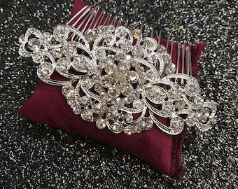 The AVNER Comb, Swarovski Crystals, Wedding hair comb, Crystal Comb, Vintage Comb, Wedding hair accessories, rhinestones, prom