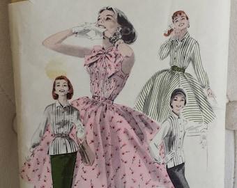 1950's Butterick  Dress Pattern #7678 Bust 30 Size 12