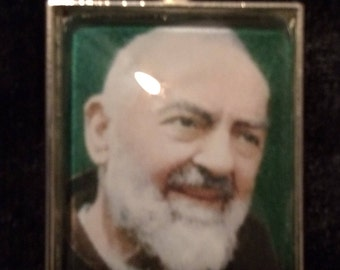 Padre Pio Pendant Necklace, Key Ring, or Ornament