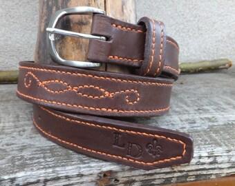 Belt brown/orange