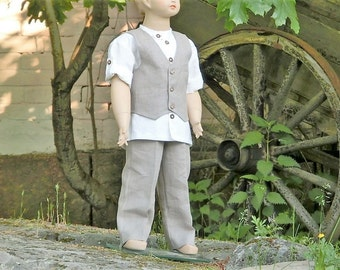 Rustic ring bearer outfit. Boys linen suit. Toddler boy formal wear. Boys wedding party outfit.Rustic wedding.Toddler boys clothing.