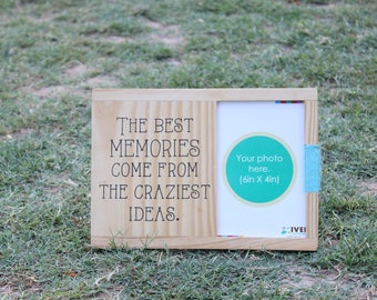 IVEI Wooden table and wall photoframe - Memories