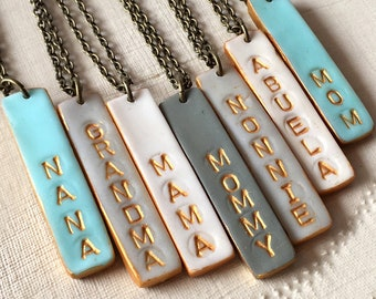 Mother's Day 2018, Mama Bar Necklace, Mom, Mommy, Grandma, Grammy, Grandmother, Nana, Nonna, Nonnie,Abuela, Oma, YiaYia, Aunt, Gigi, Maw Maw